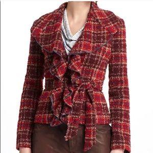 Anthropologie Tabitha Moretown Tweed Ruffle Jacket